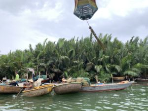 Basket Boat Fishing Vietnam with Hoian Eco Coconut Tour